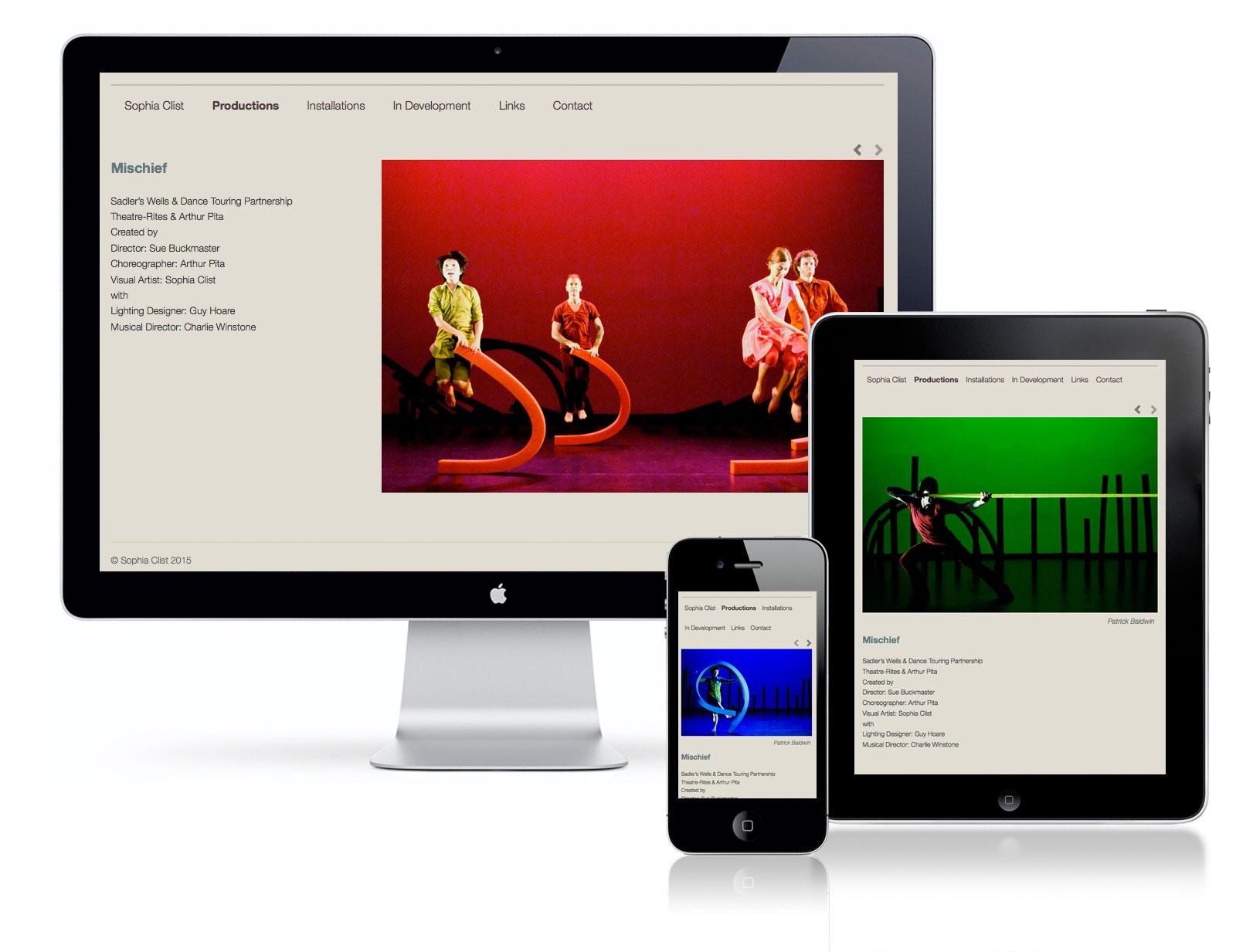 sophia clist website design by pynto