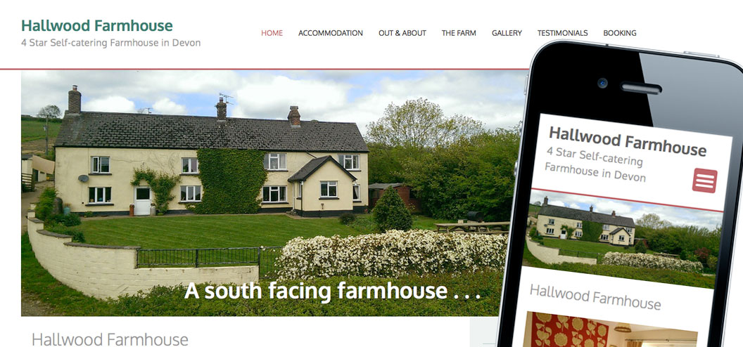 Hallwood Farmhouse responsive website