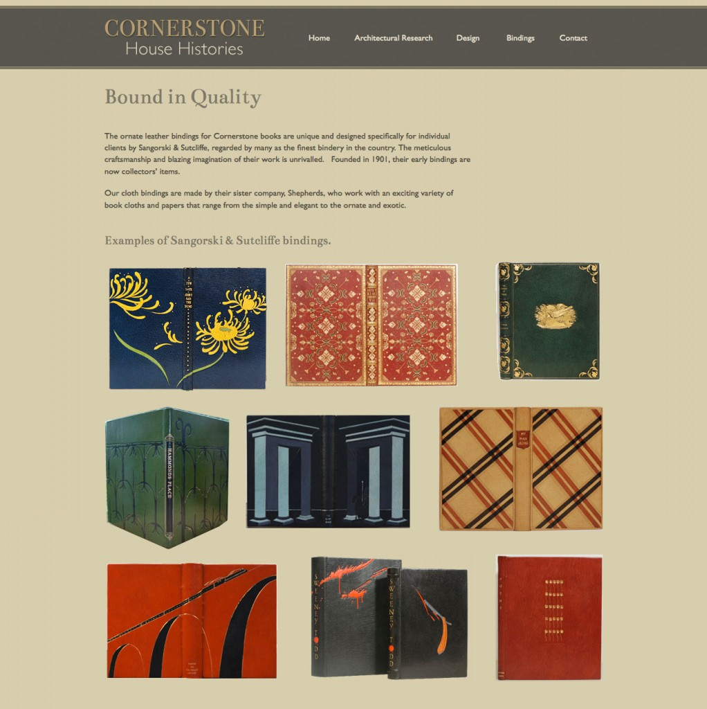 Cornerstone House Histories Website Design by Pynto