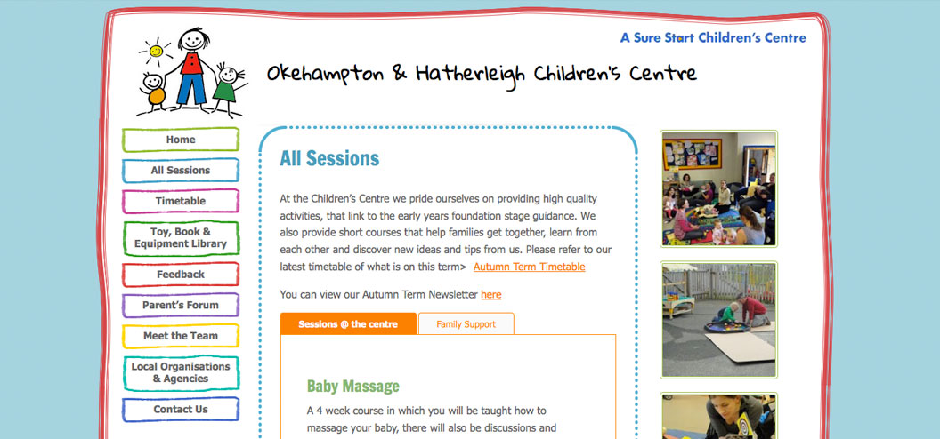 Childrens centre website by pynto