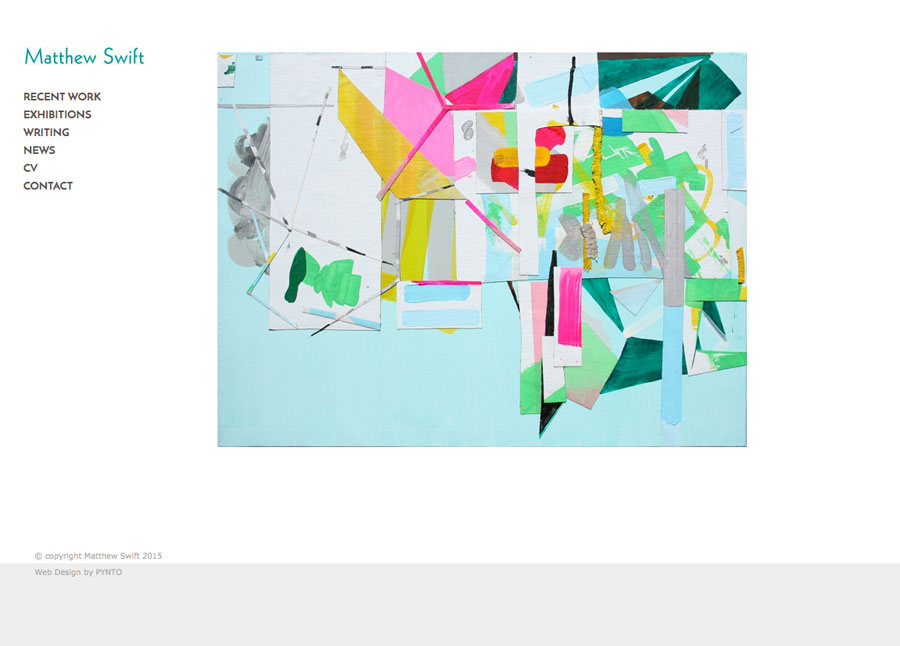 Matthew Swift Gallery Website by Pynto