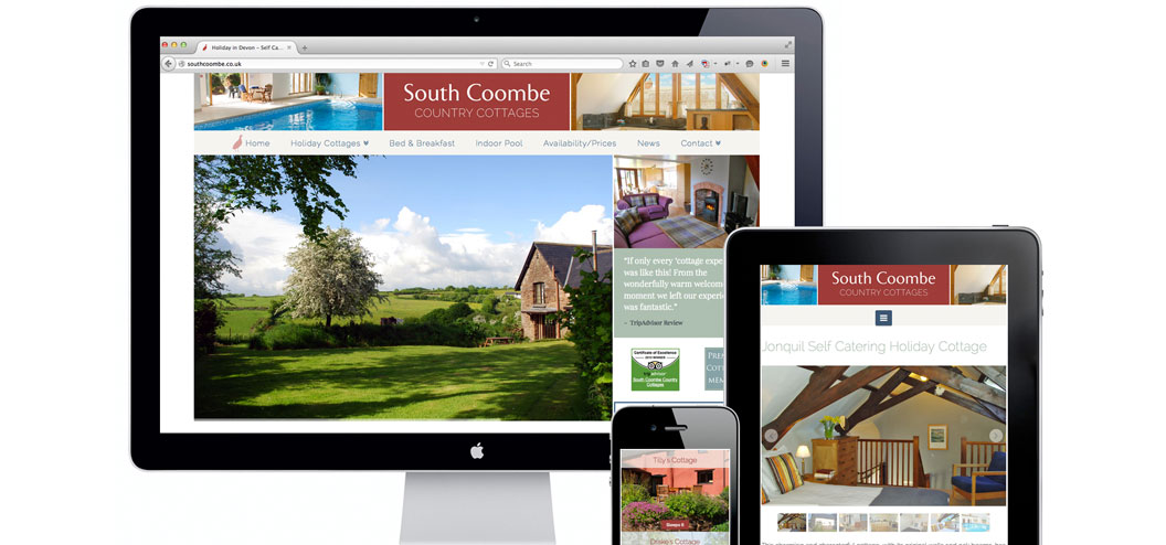 South Coombe website redesign by Pynto