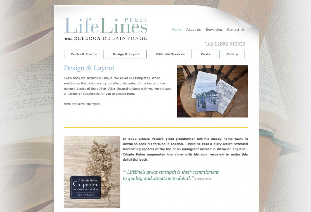 lifelines website design by Pynto