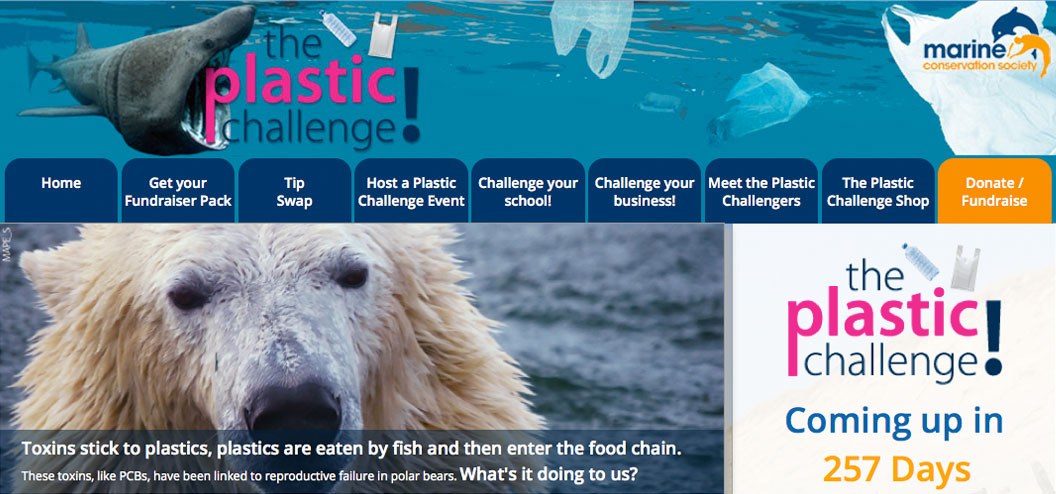 mcs-plastic-challenge webdesign by Pynto